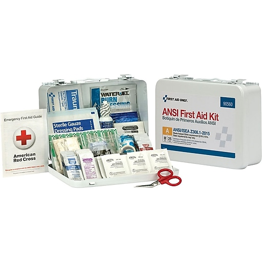 First Aid Only™ ANSI A Bulk Metal First Aid Kit for 25 People (90560)