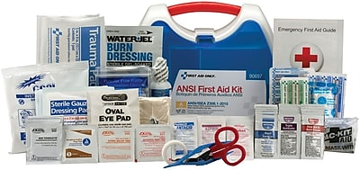 First Aid Onl+A1:D105y™ ANSI A Ready Care Small Hard Plastic First Aid Kit for 25 People (90697)