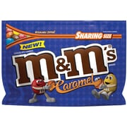 M&M'S Caramel Chocolate Candy Sharing Size Candy Bag, 9.6 oz
