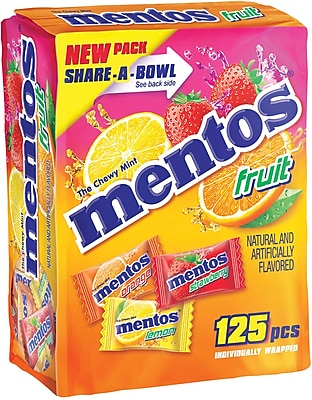 Mentos Share-A-Bowl, Fruit, 125 Mints