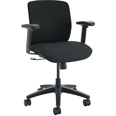HON ComfortSelect K3 Task Chair, Fabric Seat, 5-star Base, Black, 26.8
