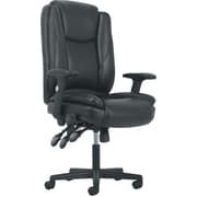 Sadie High-Back Task Chair, Height Adjustable Arms, Height Adjustable Back, Black Leather NEXT2018 NEXT2Day