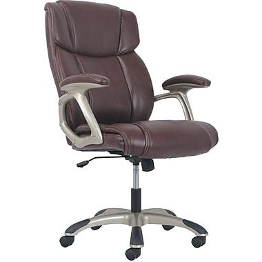 basyx by HON® High-Back Executive Chair, Brown Leather