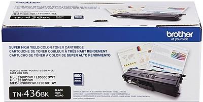Brother Toner Cartridge, Black, Super High Yield (TN436BK)