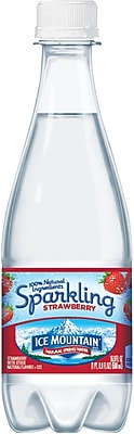 Ice Mountain® Sparkling Natural Spring Water, Strawberry 16.9 Ounce Plastic Bottle, 24/Case (12322655)