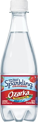 Ozarka® Brand Sparkling Natural Spring Water, Strawberry 16.9-ounce Plastic Bottle, 24/Case