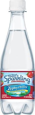 Zephyrhills® Brand Sparkling Natural Spring Water, Strawberry 16.9 Ounce Plastic Bottle, 24/Case (12322659)