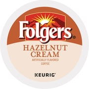 Folgers Gourmet Selections Hazelnut Cream Coffee K-Cup Pods, 24 Count