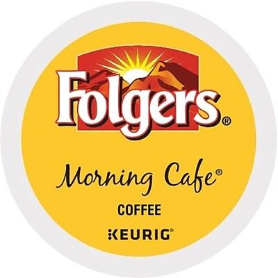 Folgers® Morning Café Coffee, Keurig® K-Cup® Pods, Light Roast, 24/Box (20448)