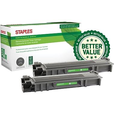 Staples® Remanufactured Laser Toner Cartridge, Brother TN630 (TN630), Black, 2-Pack