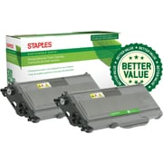 Staples® Remanufactured Laser Toner Cartridge, Brother TN330 (TN330), Black, 2-Pack