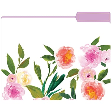 Eccolo Floral Top Tab File Folders, Letter Size, 3 Tab, 9/Pack