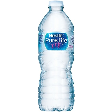 Nestlé® Pure Life Purified Water, 16.9-ounce Plastic Bottle, 24/Case