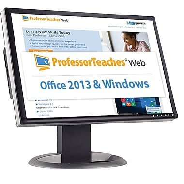 Individual Software Professor Teaches Web - Office 2013 & Windows 10 Quarterly Subscription for Windows (1 User) [Download]