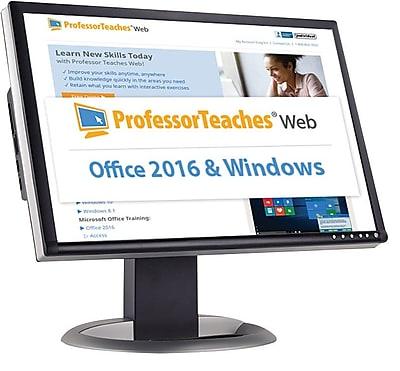 Individual Software Professor Teaches Web - Office 2016 & Windows 10 Quarterly Subscriptionon for Windows (1 User) [Download]