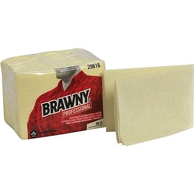 Brawny Industrial Quarterfold Dusting Cloths, Yellow, 17