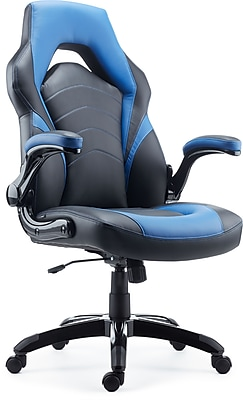 //.staples-3p.com/s7/is/  sc 1 st  Staples & Staples Gaming Chair Black and Blue | Staples