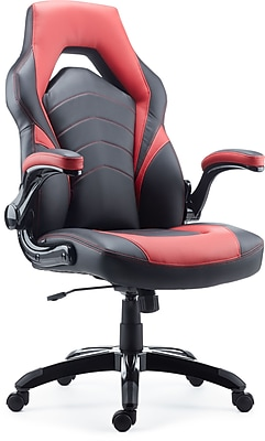 //.staples-3p.com/s7/is/  sc 1 st  Staples & Staples Gaming Chair Black and Red | Staples