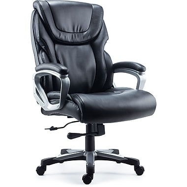 Staples Denaly Bonded Leather Big & Tall Managers Chair, Black (51468-CA)