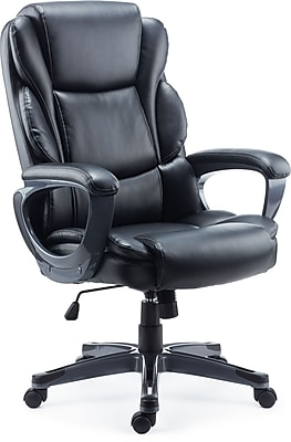 Charmant Staples Mcallum Bonded Leather Managers Chair, Black. Rollover Image To  Zoom In. Https://www.staples 3p.com/s7/is/