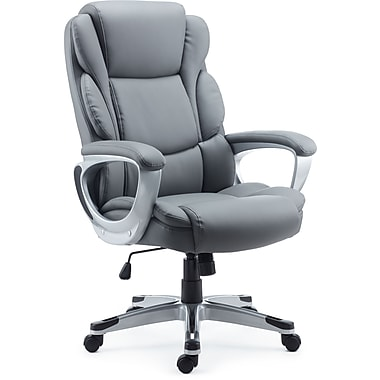 Staples Mcallum Bonded Leather Managers Chair, Gray
