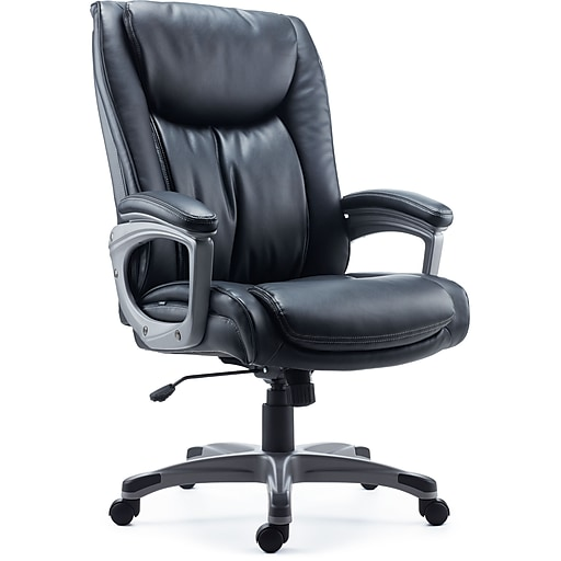 Staples Westcliffe Bonded Leather Managers Chair, Black