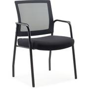 Staples Dedham Guest Chair Black Mesh Fabric