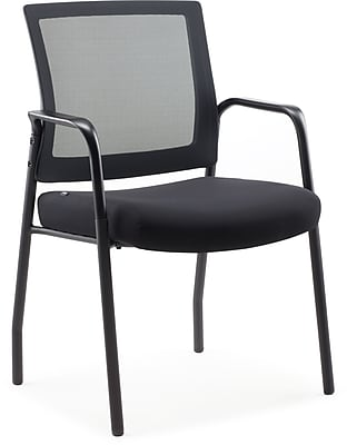 Staples Dedham Guest Chair Black Mesh Fabric