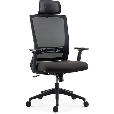 Staples Tarance Mesh and Fabric Task Chair, Black