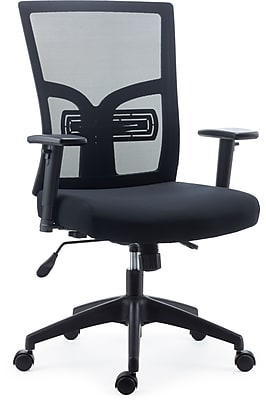 Staples Dedham Mesh and Fabric Task Chair, Black