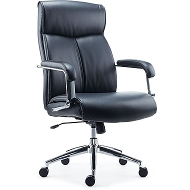 Staples Rollinsford Black Leather Chair