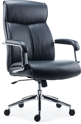 Staples Rollingsford Black Leather Chair