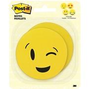 "Post-it® Notes, 3"" x 3"", Emoji Shapes, 2 Pads/Pack (BC-2030-EMOJI)"