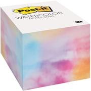 "Post-it® Watercolor Notes Cube, 2.6"" x 2.6"" (2027-WTRCLR-W)"
