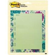 "Post-it® Notes, Tropical Mint, 6.5"" x 7.8"" (BC-DSKCAL-TROP)"