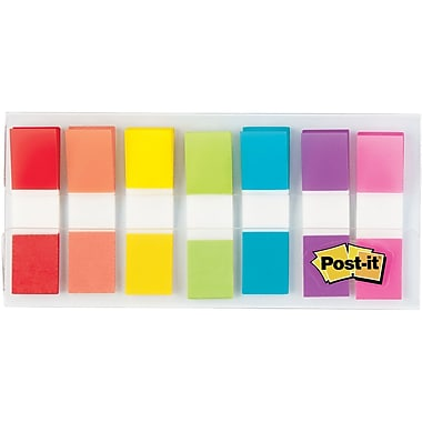 Post-it® Flags, Assorted Colors, 1/2