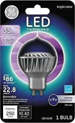 GE LED 3.7 Watt Bright White GU10 (89020)