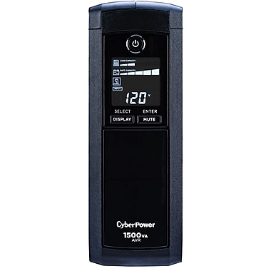 CyberPower CP1500AVRLCD 1500VA 900W UPS Mini-Tower Battery Backup & Surge Protection with 12 Outlets & LCD Screen