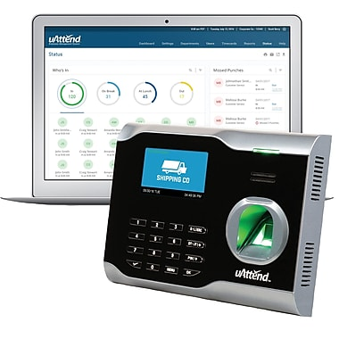 uAttend Unlimited Employees Cloud-Based Fingerprint Internet Ready Time Clock (BN6000SC)