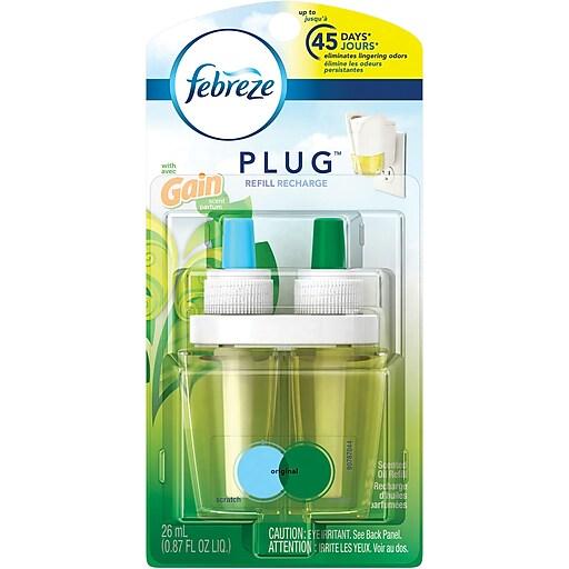 Febreze PLUG Air Freshener Refill with Gain Original, 0.87 Oz.