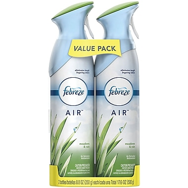 Febreze AIR Freshener with Meadows & Rain Scent, 17.6 Oz., 2 Pack