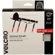 "Velcro® Industrial-Strength Tape Roll, 15' x 2"", White"