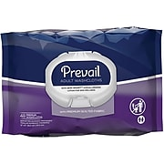 """Prevail® Adult Washcloths, Premium Quilted Fabric, 12"""" x 8"""", Press-N-Pull, 576/CT"""