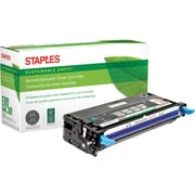 Staples® Remanufactured Cyan Toner Cartridge, Dell 3130 (SEBD3130CRDS), High Yield