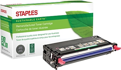 Staples® Remanufactured Color Laser Toner Cartridge, Xerox Phaser 6280, Magenta, High Yield