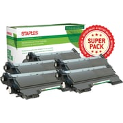 Staples® Remanufactured Laser Toner Cartridge, Brother TN450, Black, High Yield, 5-Pack