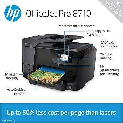 hp officejet pro allinone inkjet printer with color printer cost per page