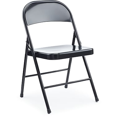 Staples Black Metal Folding Chair 4 Pk