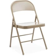 Staples Metal Folding Chair, Tan, 4/Pk (51502)