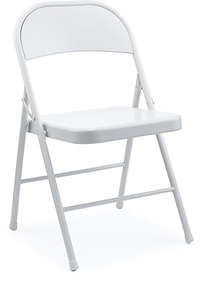 Staples Metal Folding Chair, Gray, 4/Pk